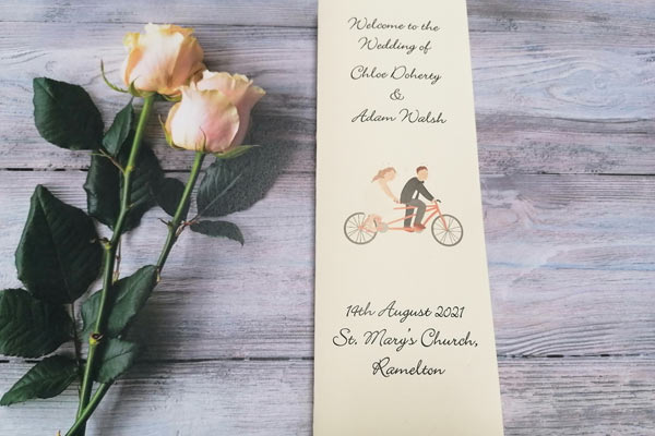 Personalised Handmade  Ceremony Booklet 2