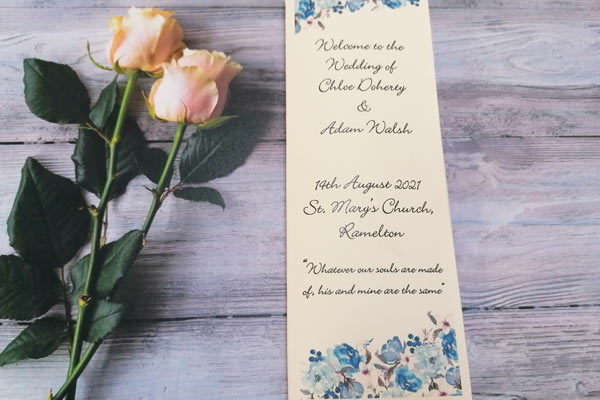 Personalised Handmade Ceremony Booklet 6