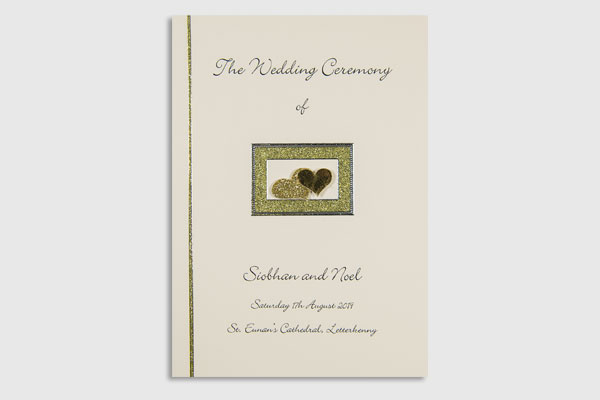 Personalised Handmade Ceremony Booklet 3