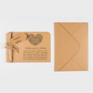 Amber Personalised Handmade Wedding Invitation