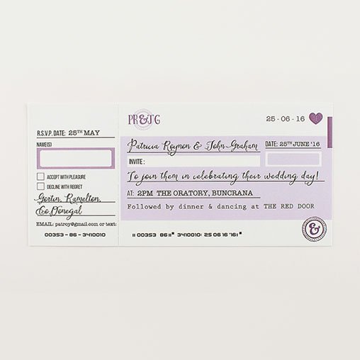 Cheque Book Personalised Wedding Invitation