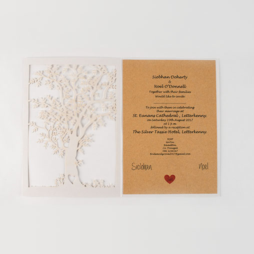 Ellie-Rose Handmade Wedding Invitation