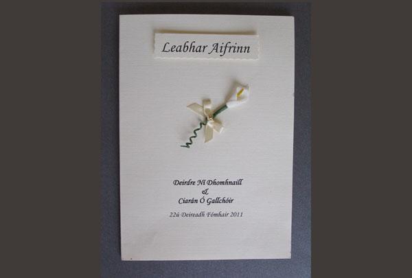 Personalised Irish Ceremony Booklets