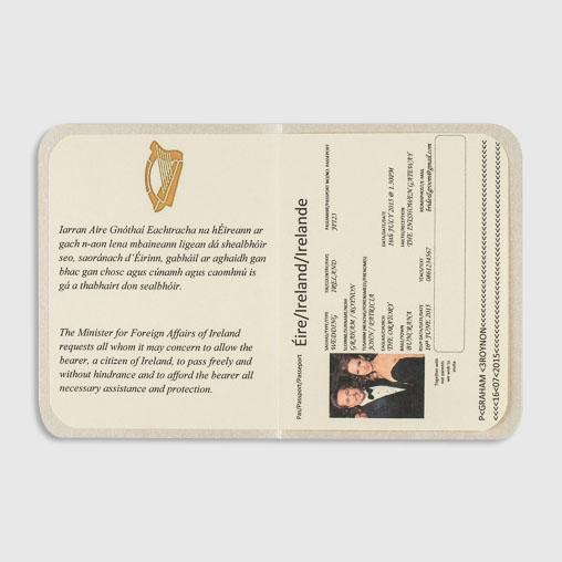 Personalised Passport Wedding Invitation Inside